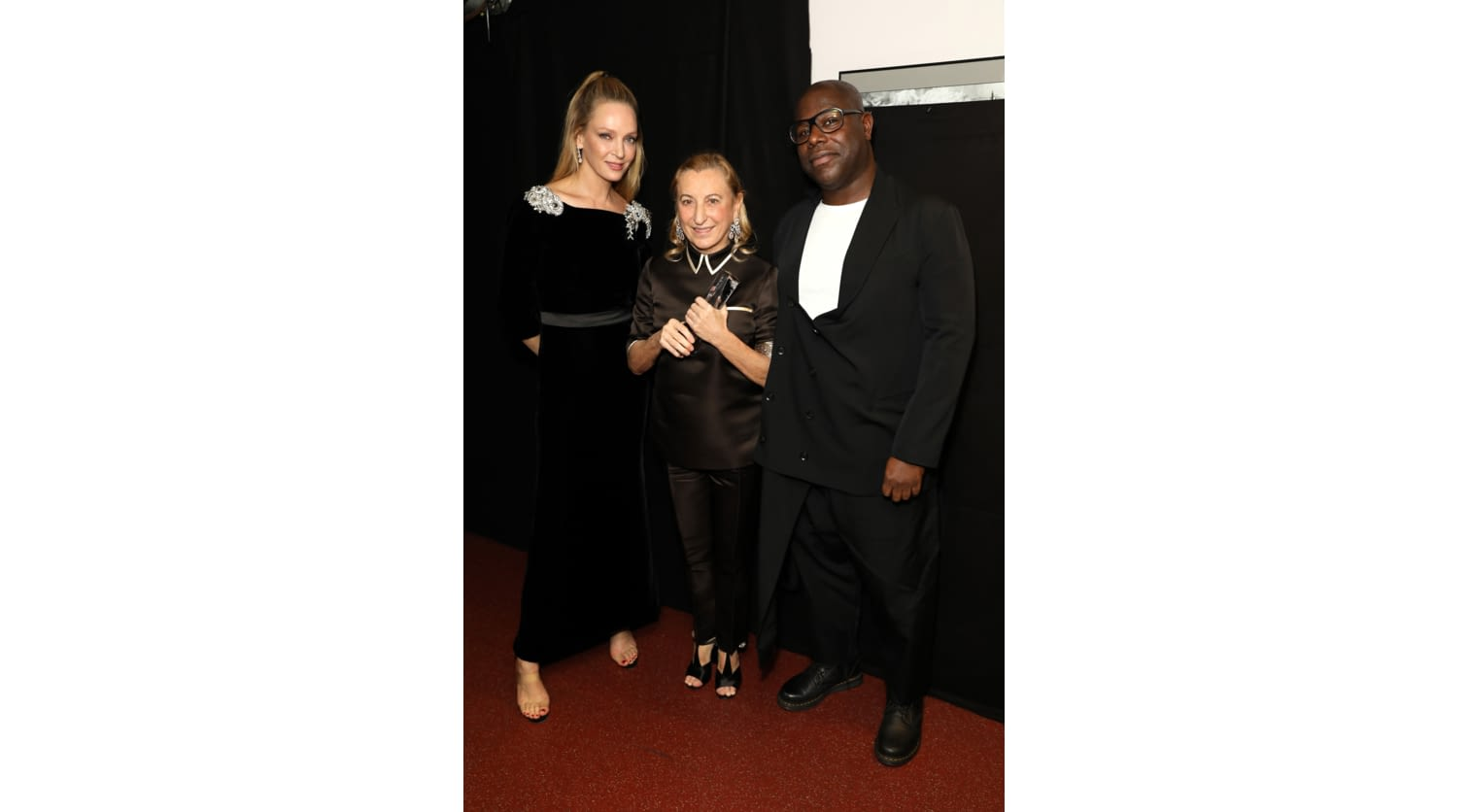 Uma Thurman_Miuccia Prada_Steve McQueen_Fashion Awards 2018.jpeg