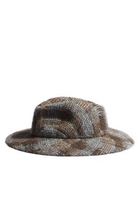 AA0431-X13122-K1969 Brown, grey and silver hat in tweed and felt.jpg