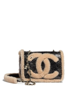 AS0321-B01613-N4130- Black and beige bag in shearling and shiny crumpled leather.jpg