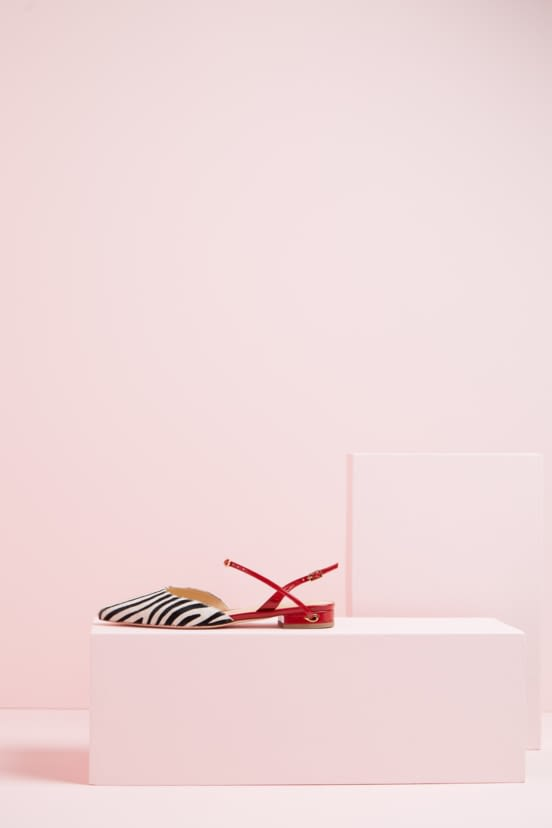 Vittorio Flat in Zebra Pony, Red Patent.jpg