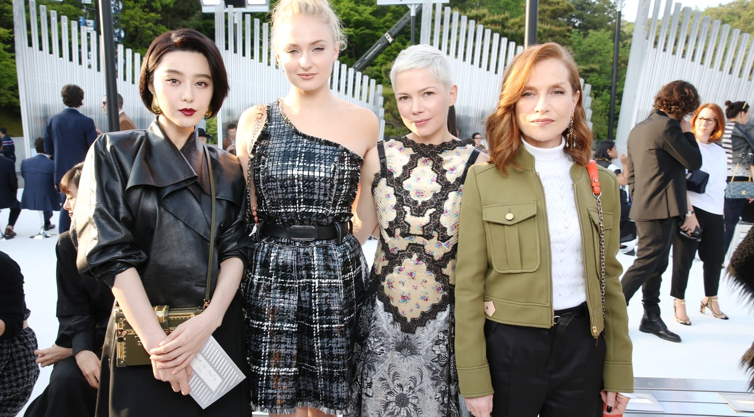 Fan Bing Bing, Sophie Turner, Michelle Williams, Isabelle Huppert.jpg