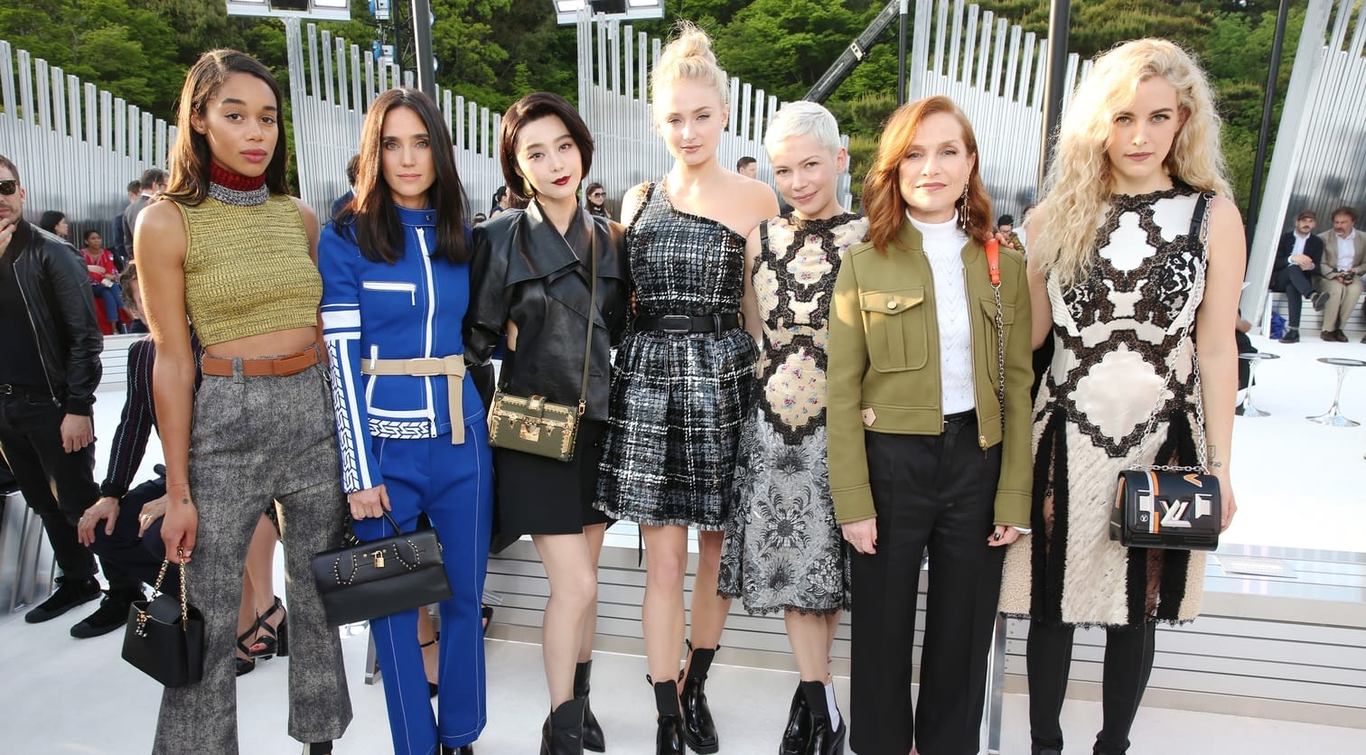 Laura Harrier, Jennifer Connelly, Fan Bing Bing, Sophie Turner, Michelle Williams, Isabelle Huppert, Riley Keough.jpg