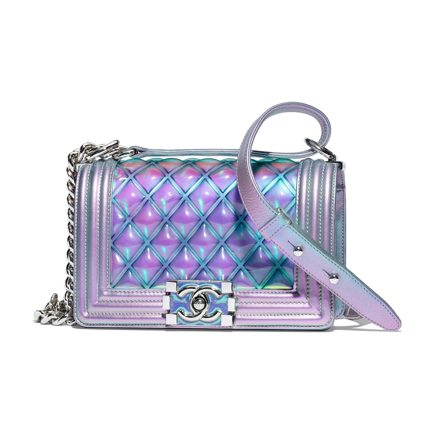 9188c6fd0ad2 A67085-Y83577-4B986 BOY CHANEL bag in purple PVC and iridescent leather.jpg